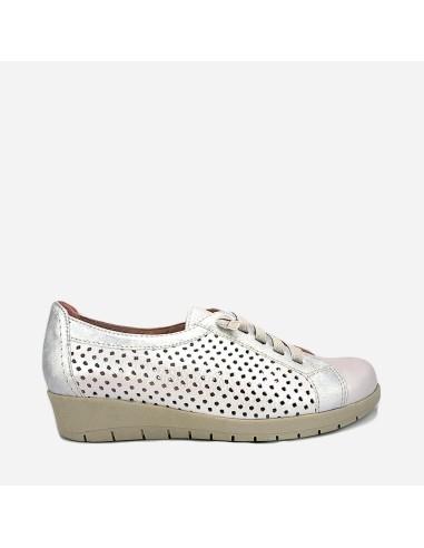 Zapato Deportivo Mujer Piel Cordones...