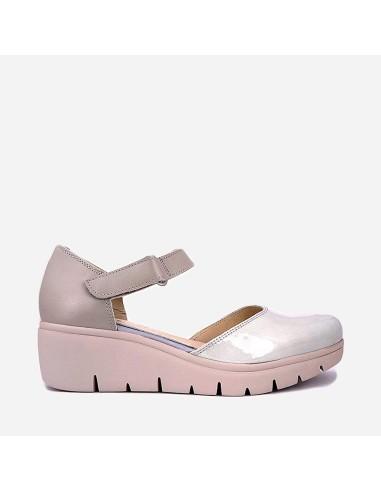 Zapato Mujer Piel Cuña Casual 94113