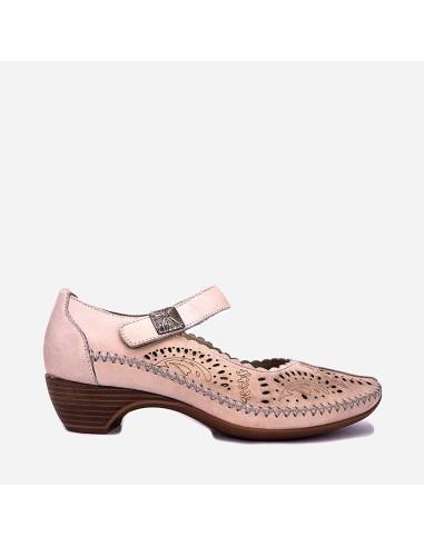 Zapato Cómodo Mujer Piel Tacón Bajo...