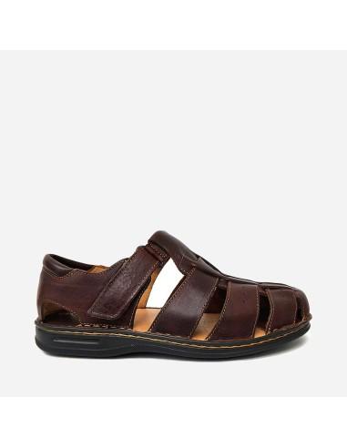 Sandalia Hombre Piel Velcro1472...