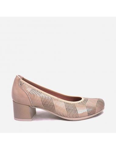 Zapato Salón Mujer Piel Tacón...