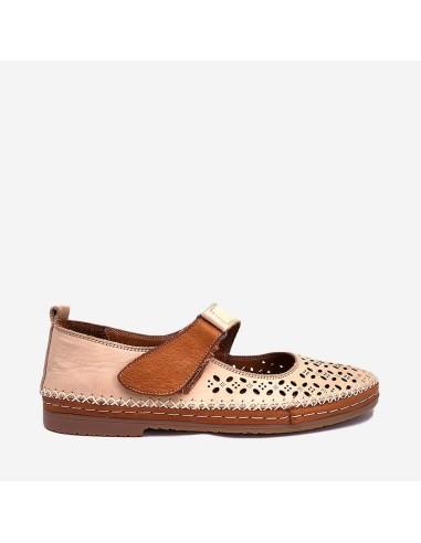 Zapato Mujer Piel Velcro 206-906