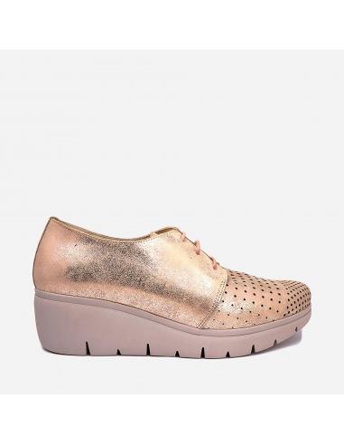 Zapato Mujer Piel Cuña Casual 94112