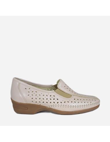 Zapato Cómodo Mujer Piel Plantilla...