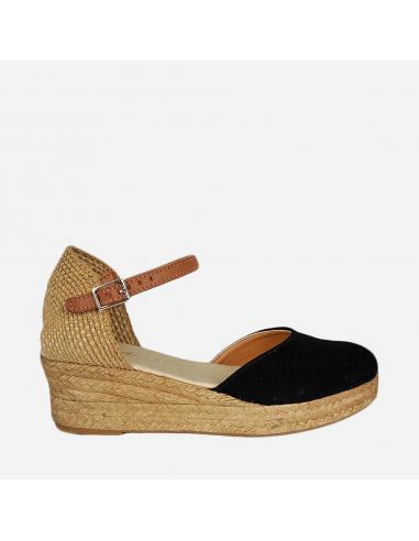 Sandalia de Mujer Piel Cuña Esparto...