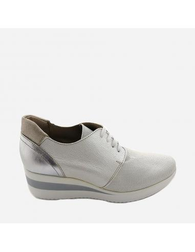 Zapato Deportivo Mujer Piel Con...
