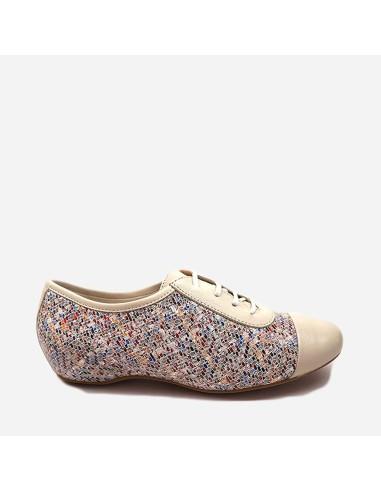Zapato Mujer Blucher Casual Piel Con...