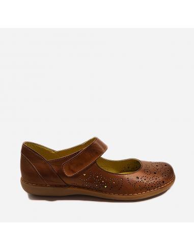 Zapato Casual Mujer Piel Cierre...