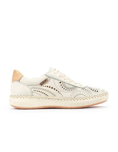 Zapato Deportivo Mujer En Piel Con...