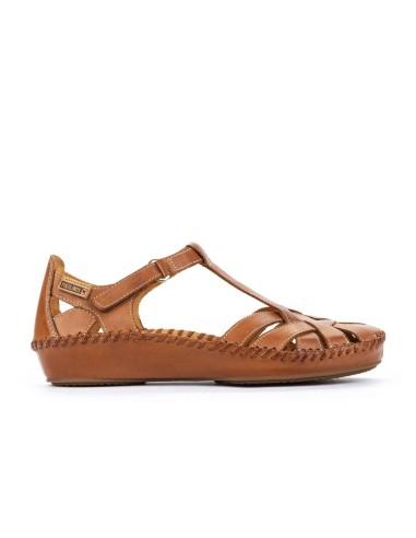 Sandalia Mujer Piel Cómoda Velcro...