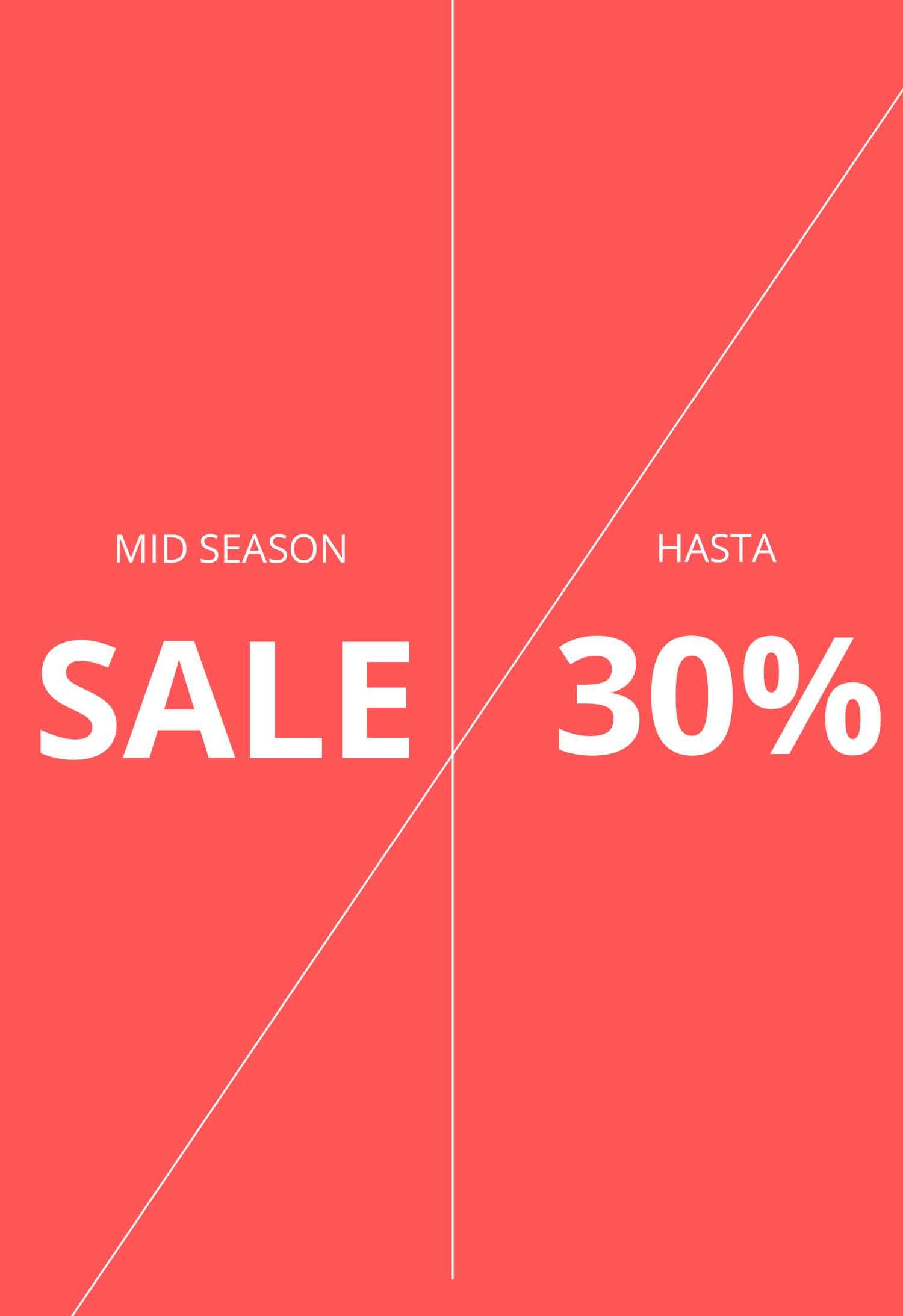 Promoción Mid Season Descuentos Hasta el 30% Zankos Original